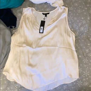 Banana republic white satin tank